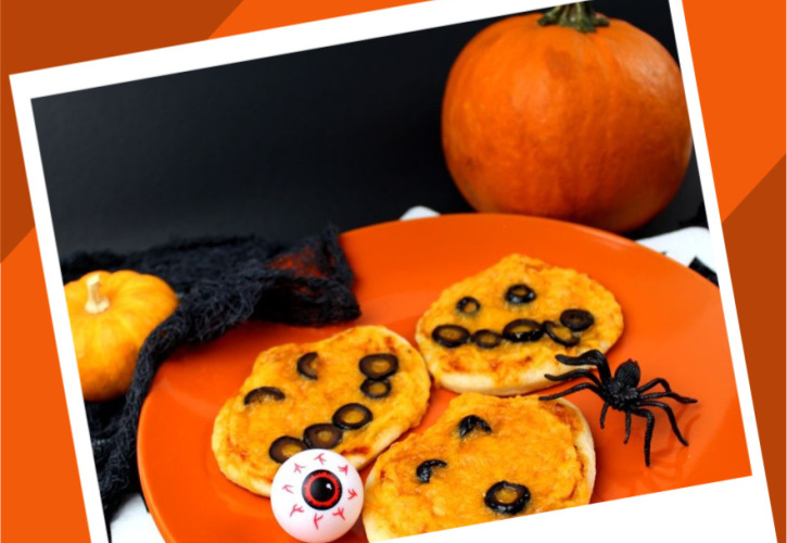 Halloween Mini Pumpkin Pizzas Recipe