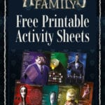 The Addams Family Free Printable Activity Sheets