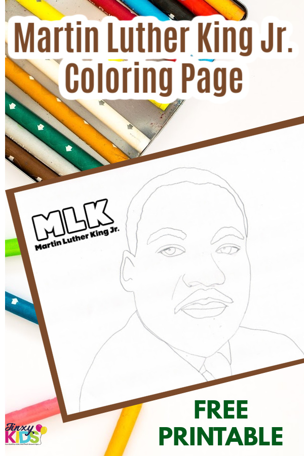 Martin Luther King Jr Printable Coloring Page