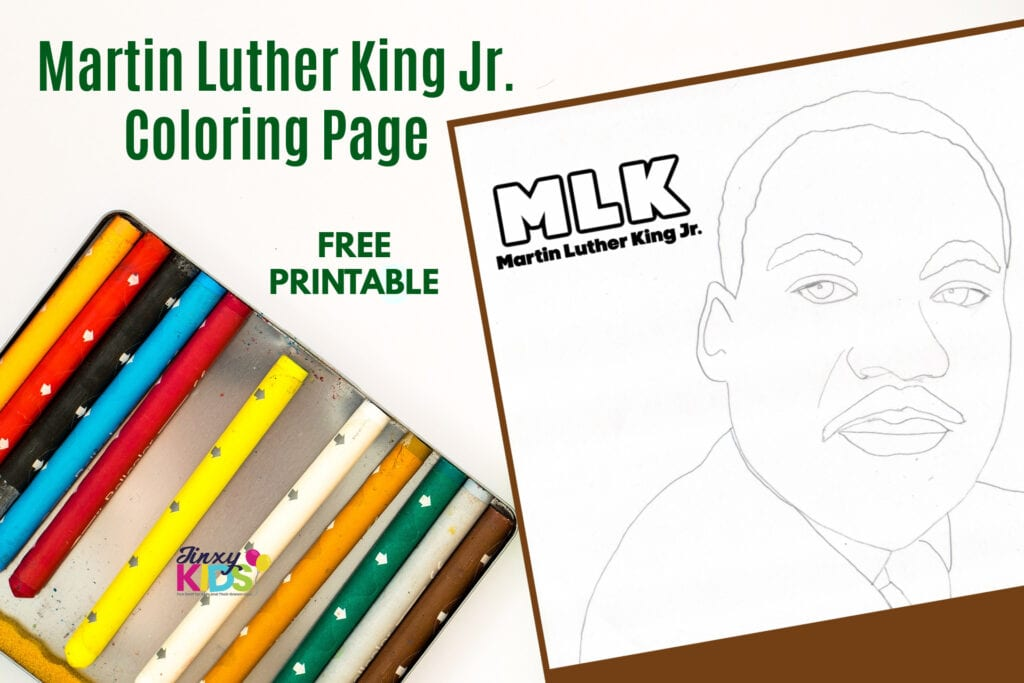 Martin Luther King Jr. Printable Coloring Page