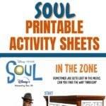 DISNEY SOUL PRINTABLE ACTIVITY SHEETS
