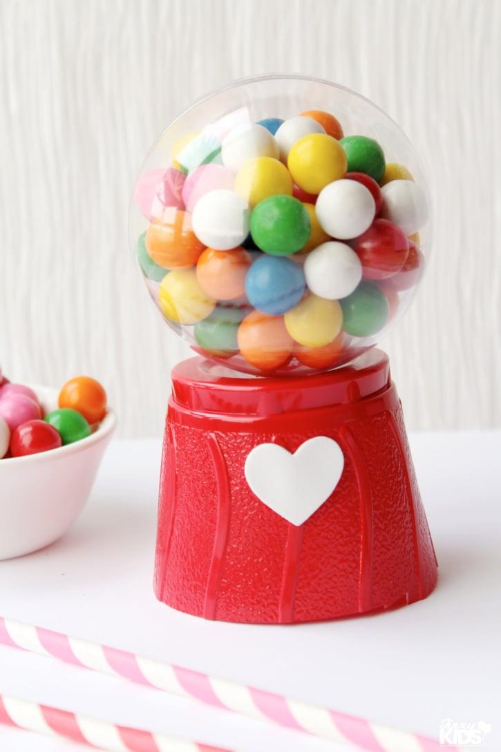 Valentine's Day Mini Gum Ball Machines