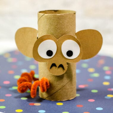 Monkey Cardboard Tube Craft for Kids