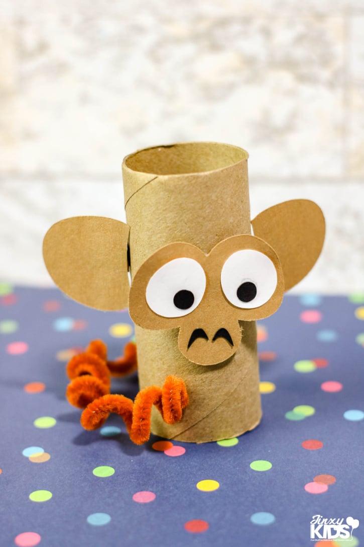 Monkey Cardboard Tube Craft for Kids
