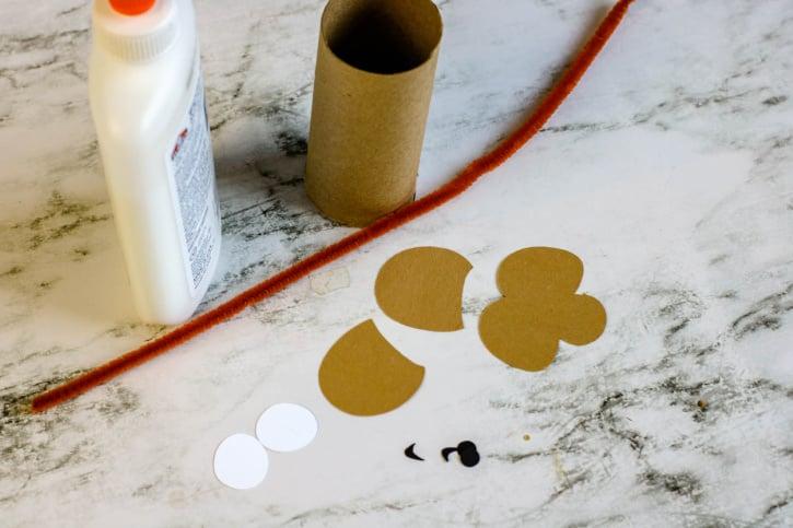 Monkey Cardboard Tube Craft supplies needed