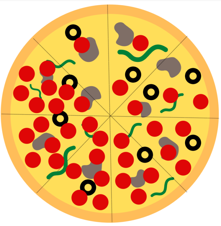 Pizza Fractions Printable Math Activity