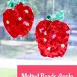 Melted Beads Apple Suncatchers Craft