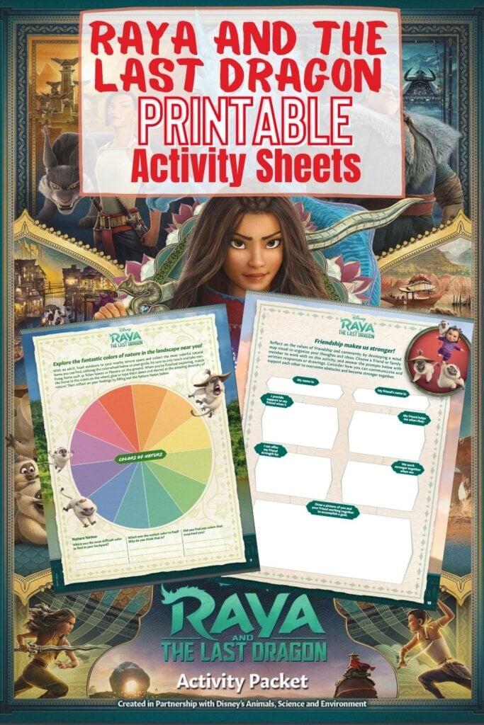 Raya and the Last Dragon Printable Activity Sheets
