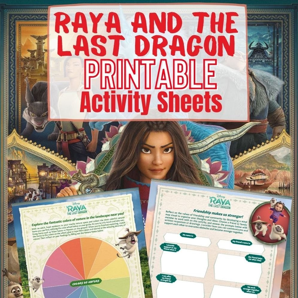 Raya and the Last Dragon Printable Activity Sheets