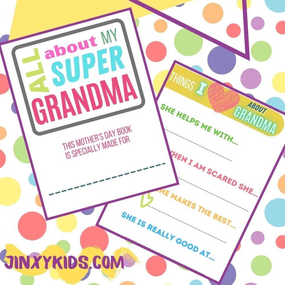Printable Mother's Day Book for Grandma