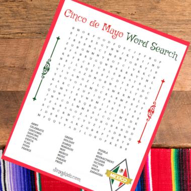 FREE PRINTABLE CINCO DE MAYO WORD SEARCH Puzzle