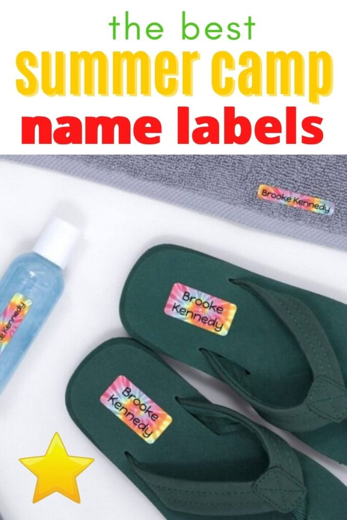 the best summer camp name labels