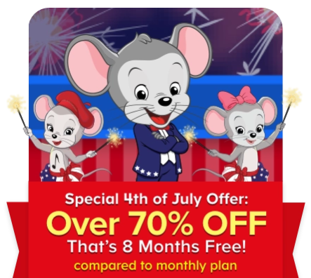 ABCmouse 4th of July Sale